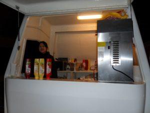 Een snackwagen multifuntioneel