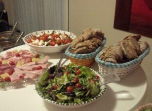 Mediterraans buffet bijgerechten