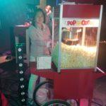 Popcornmachine met standaard onderkar