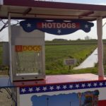 USA kar met hotdogmachine