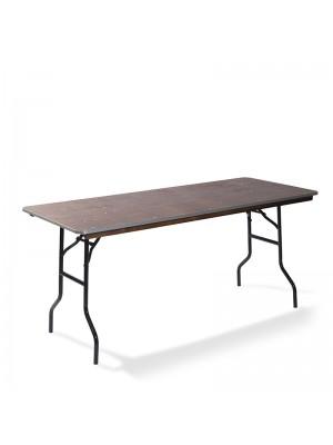 Diner tafel recht houten blad